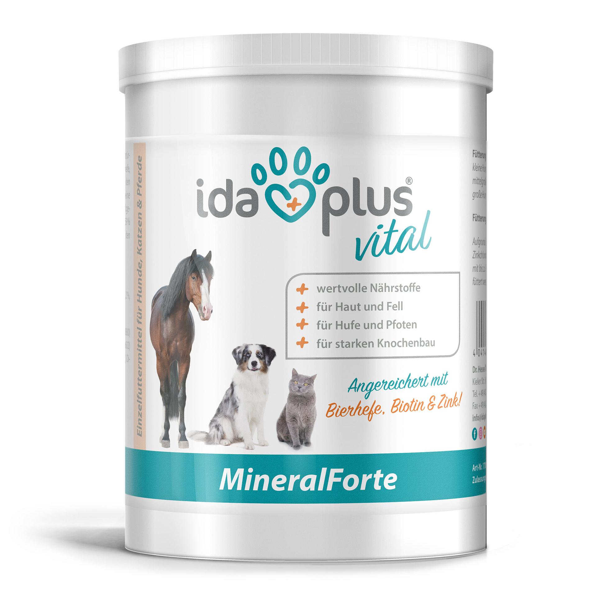 MineralForte - für Fell, Haut, Knochen, Zähne und Horn - 400 g