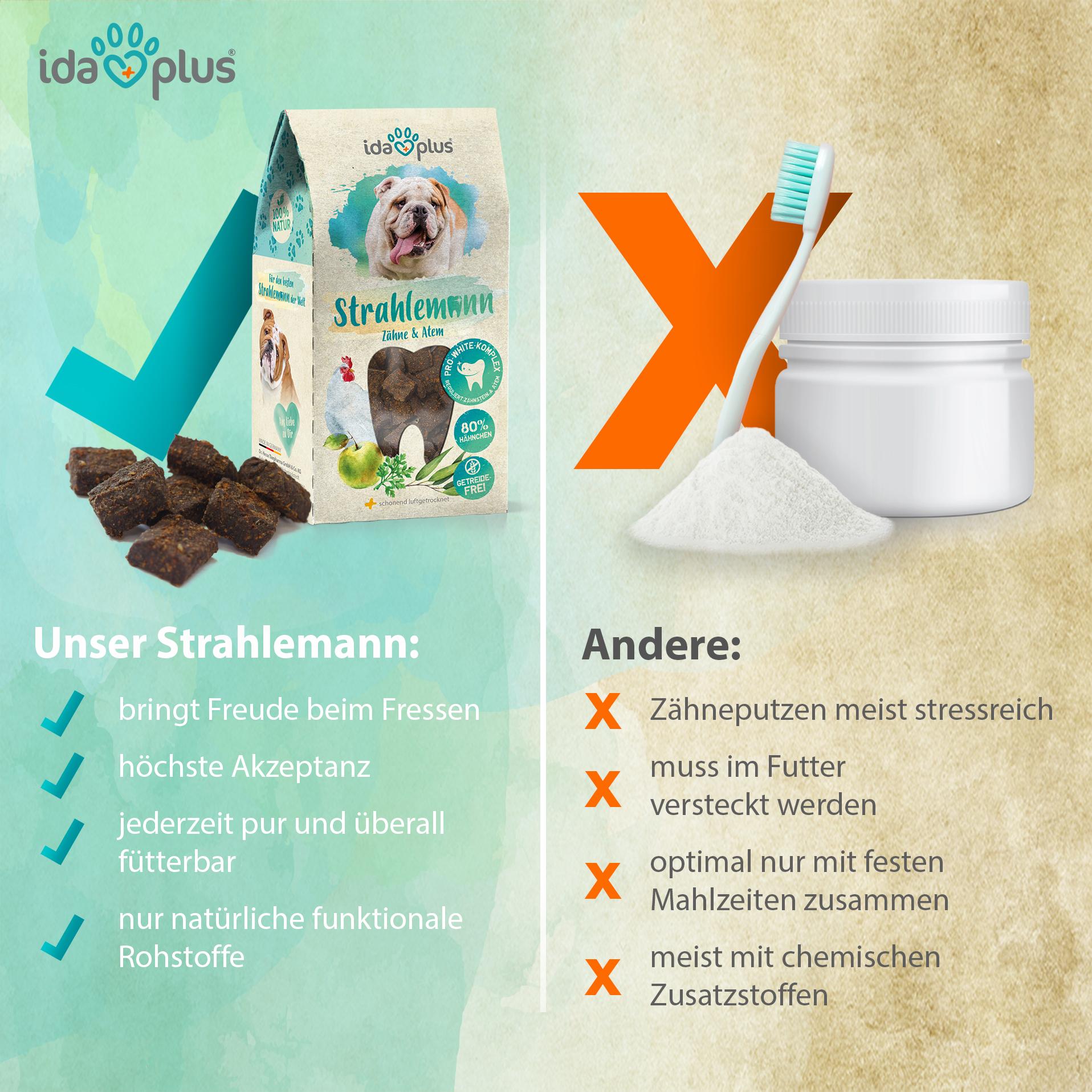 Strahlemann - mit Anti-Zahnsteinkomplex zur Hunde-Zahnreinigung - 200 g