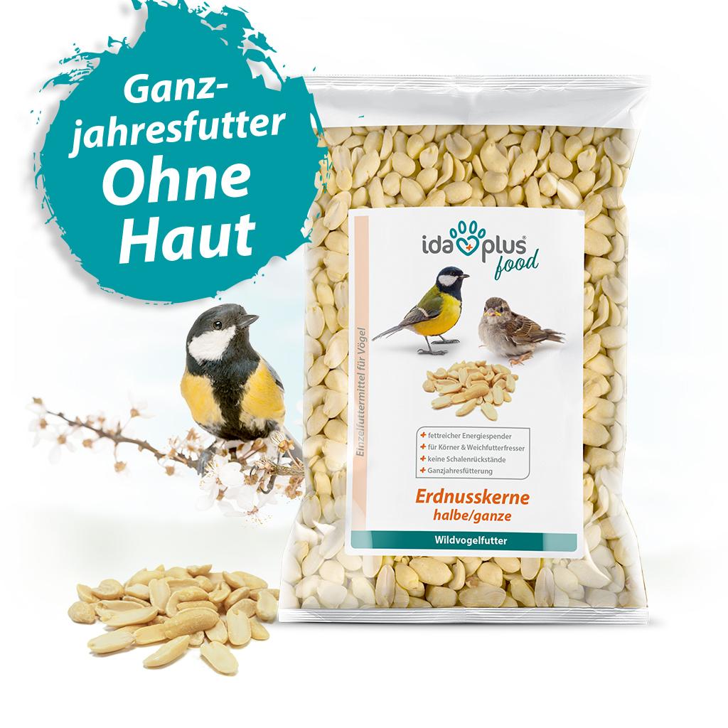 Erdnusskerne – Wildvogelfutter aus halben/ganzen Erdnüssen ohne Haut - 1,5 Kg
