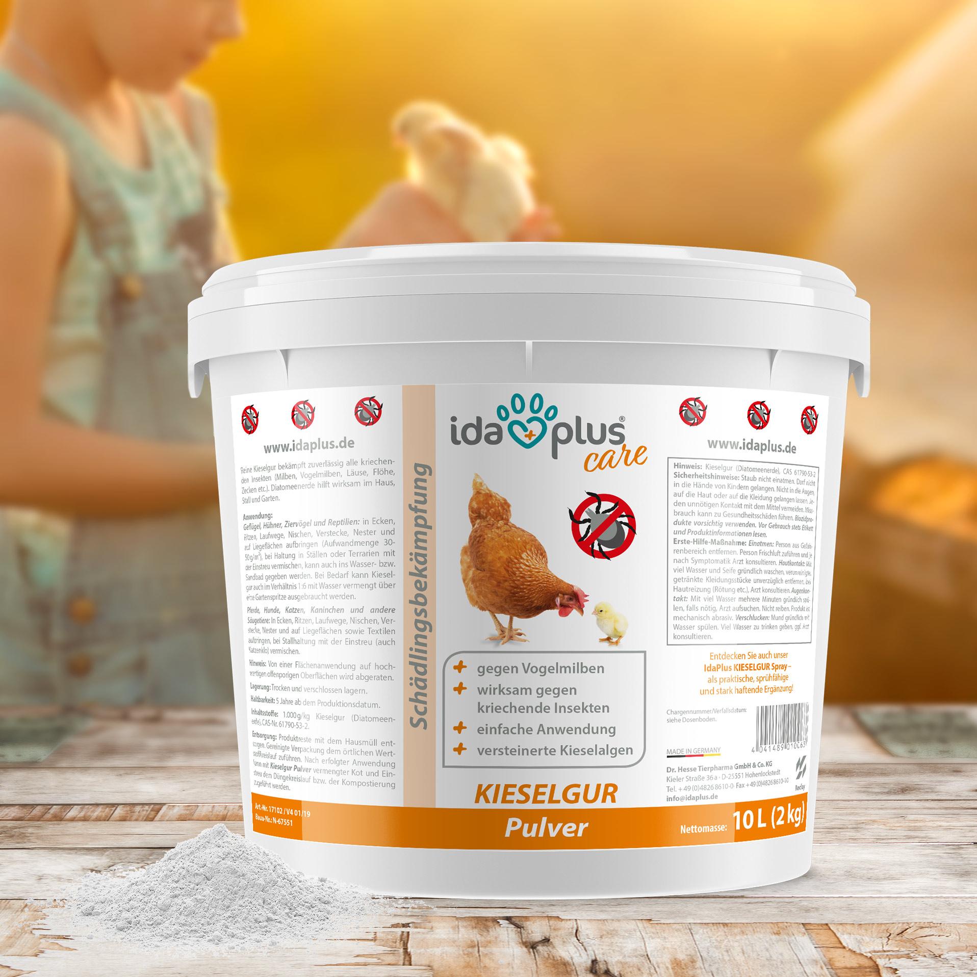 Kieselgur - Kieselerde Pulver - Diatomeenerde als Mittel gegen Vogelmilben - 2 Kg