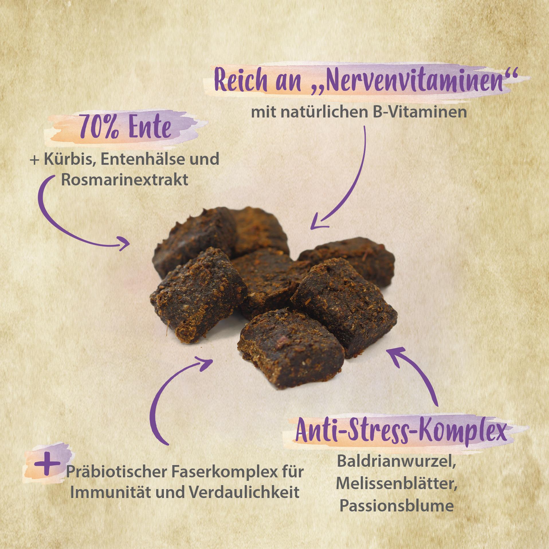 Softie - natürliches Beruhigungsmittel gegen Stress mit Baldrian & Melisse - 200 g