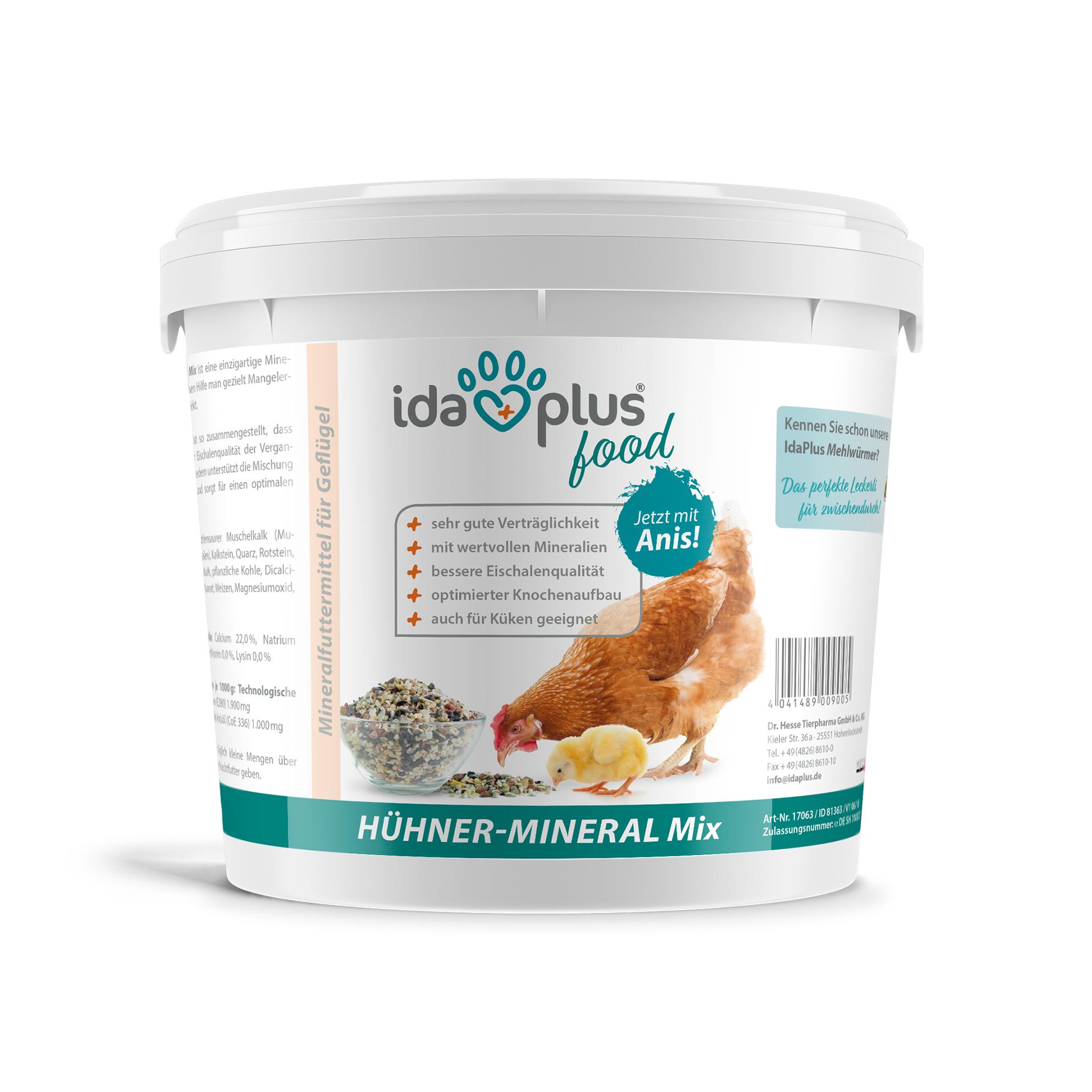 Hühner-Mineral-Mix – einzigartige Futterkalk Mineralstoffmischung mit Anis - 5 Kg