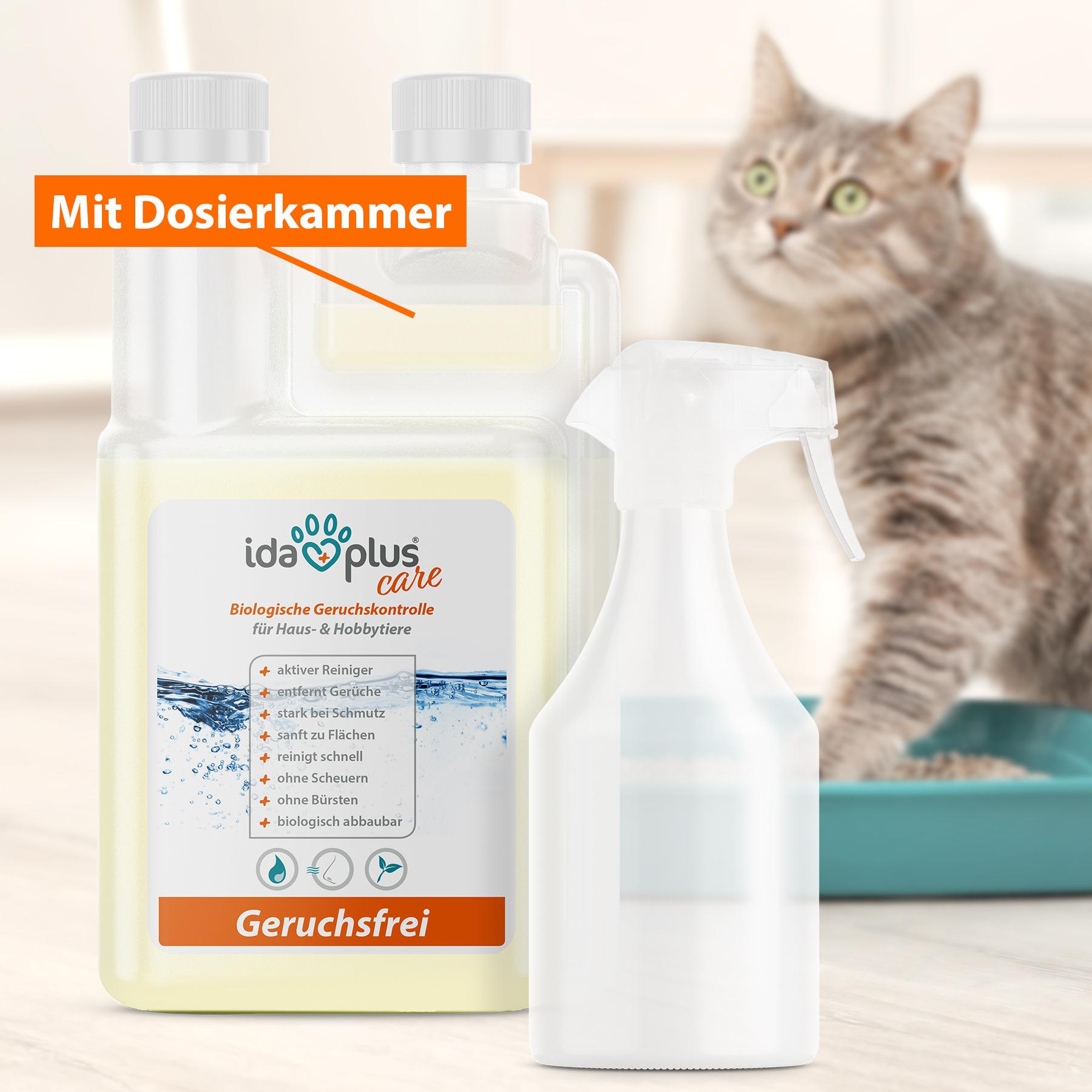 Geruchsfrei - Geruchsneutralisierer & Fleckenentferner - 1 Liter Konzentrat