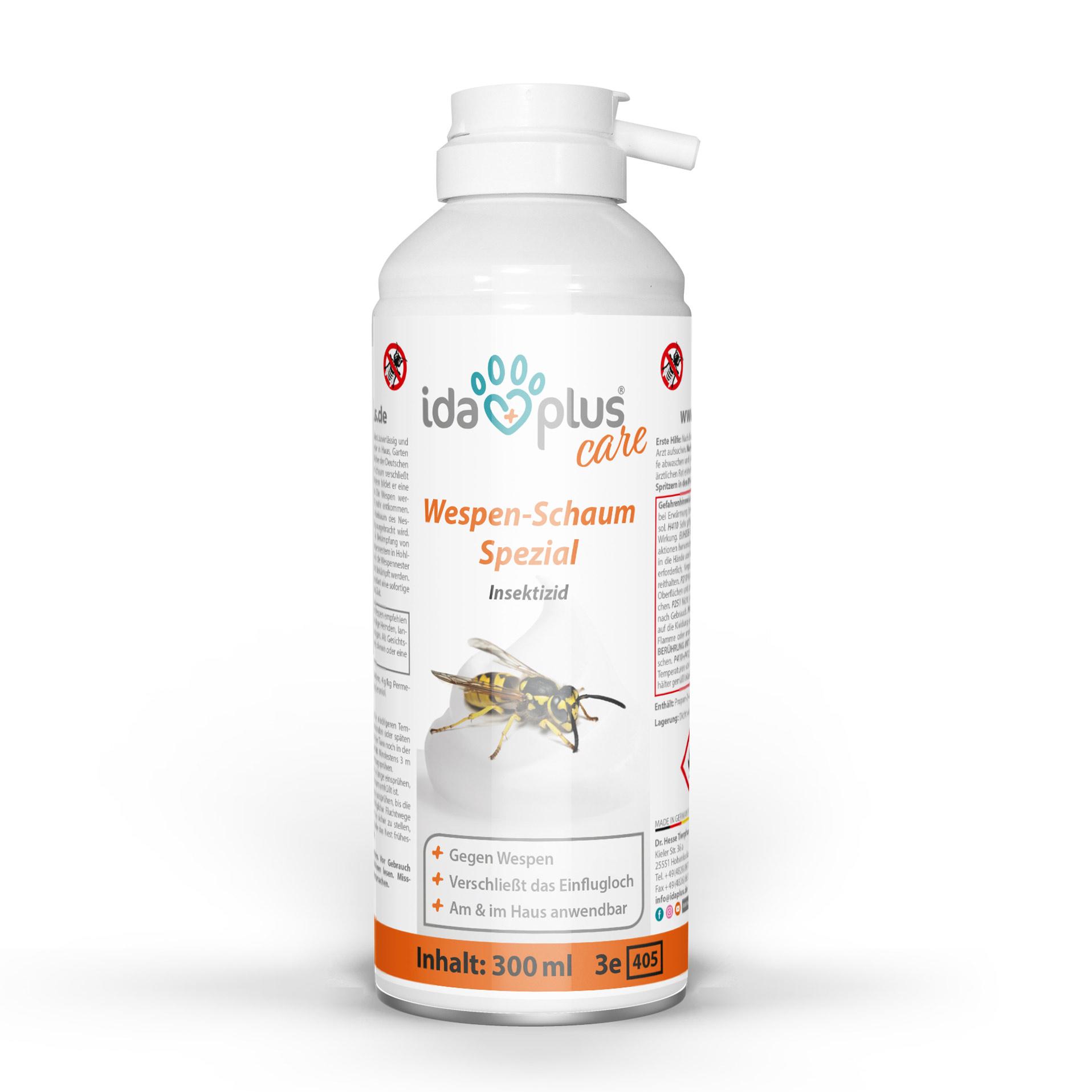 Wespenschaum – zuverlässiger Wespenschutz - verschließt das Einflugloch - 300 ml