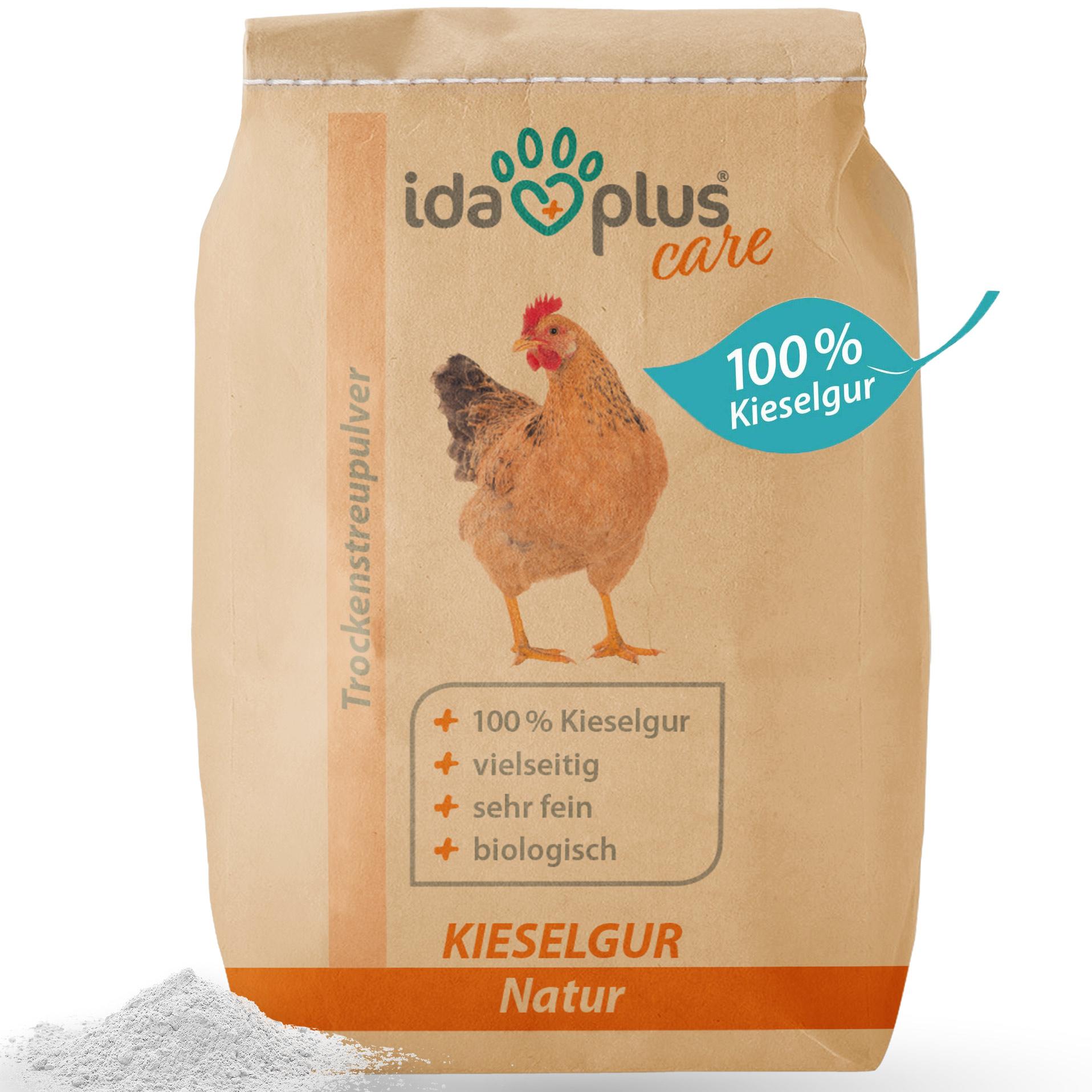 Kieselgur Natur im umweltfreundlichen Papiersack - Kieselerde als Pulver - 3 Kg