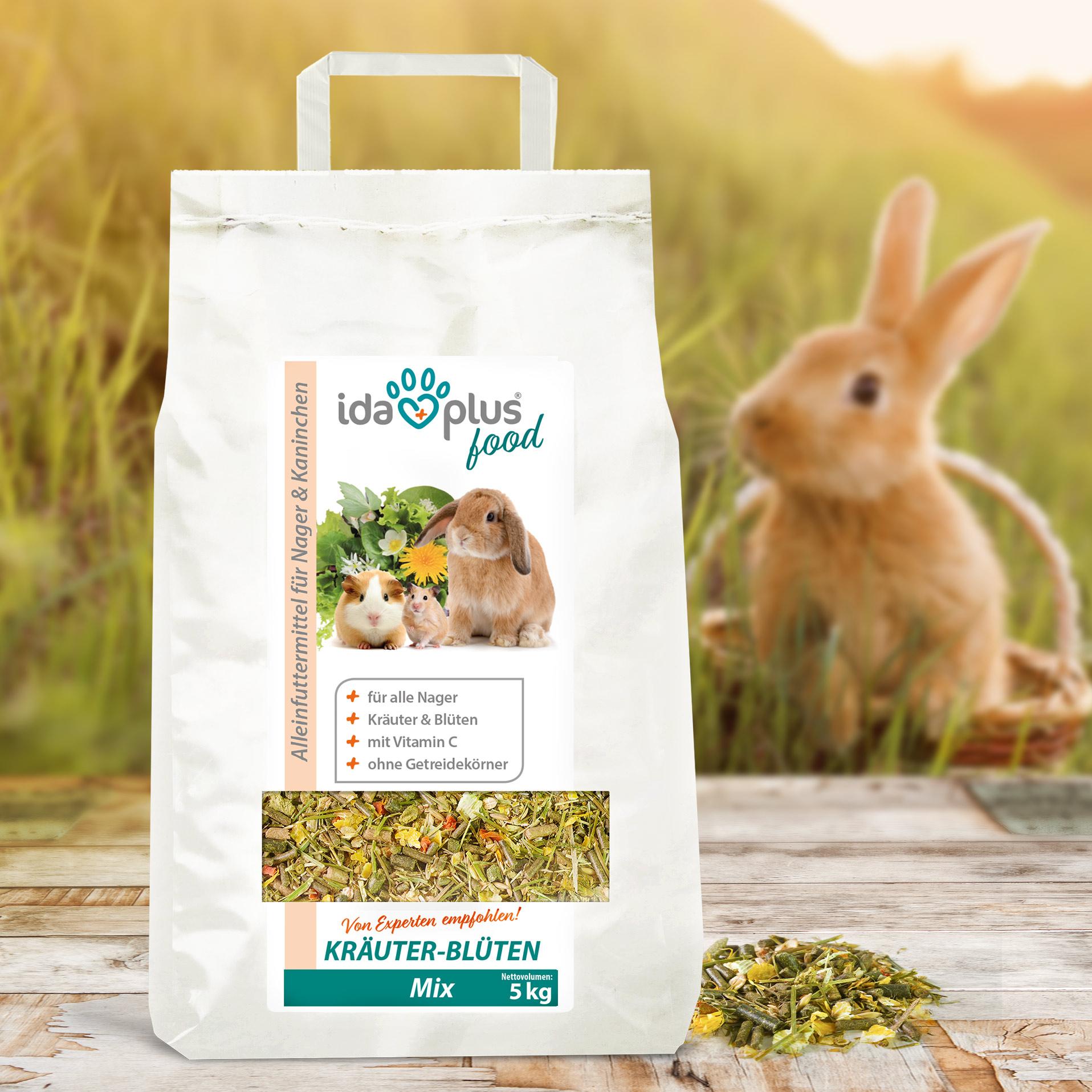 Kräuter-Blüten-Mix – Futtermix für Nager - ohne Getreidekörner - 3,5 Kg