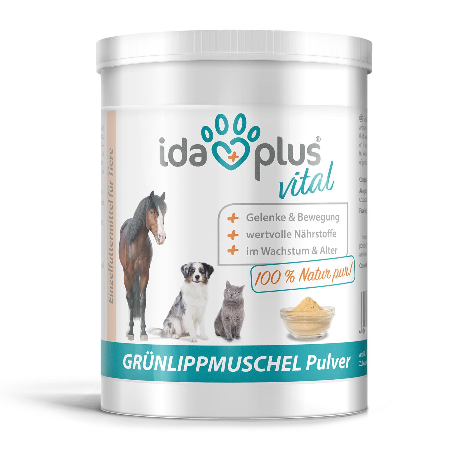 Grünlippmuschel - Unterstützung der Gelenkfunktion für Hund, Katze & Pferd 500g