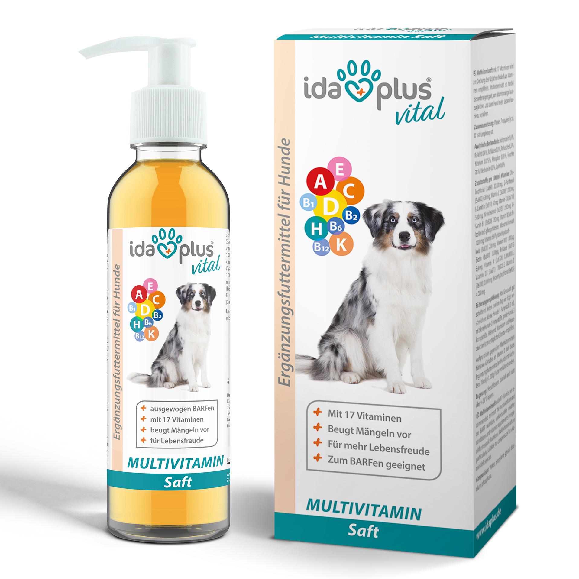 Multivitamin Saft für Hunde - 17 wichtige Vitamine für den Hund - 200ml