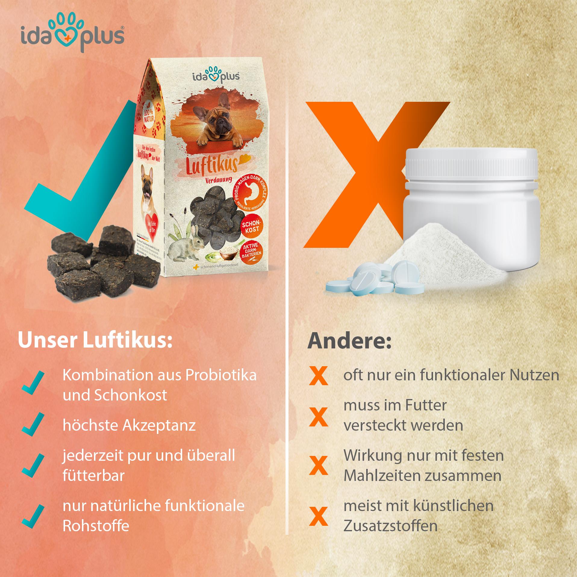 Luftikus - Probiotika & Präbiotika zur Darmsanierung - fördert Verdauung - 200 g