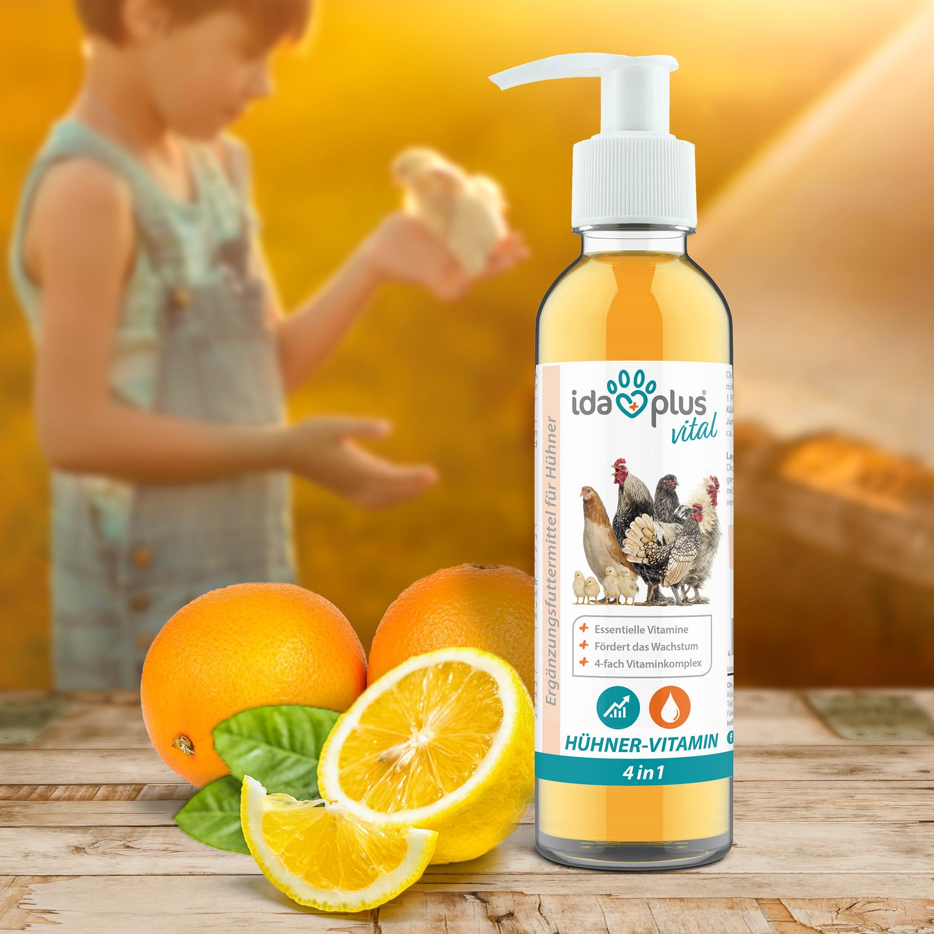 Hühner-Vitamin 4in1 – Vitaminkonzentrat für starke Abwehrkräfte - 200 ml