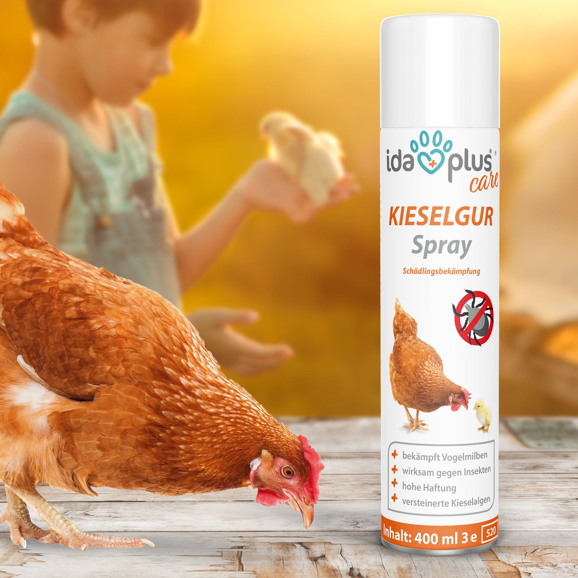 Kieselgur Milben Spray – gegen Vogelmilben, Ameisen, Flöhe & Insekten 400 ml