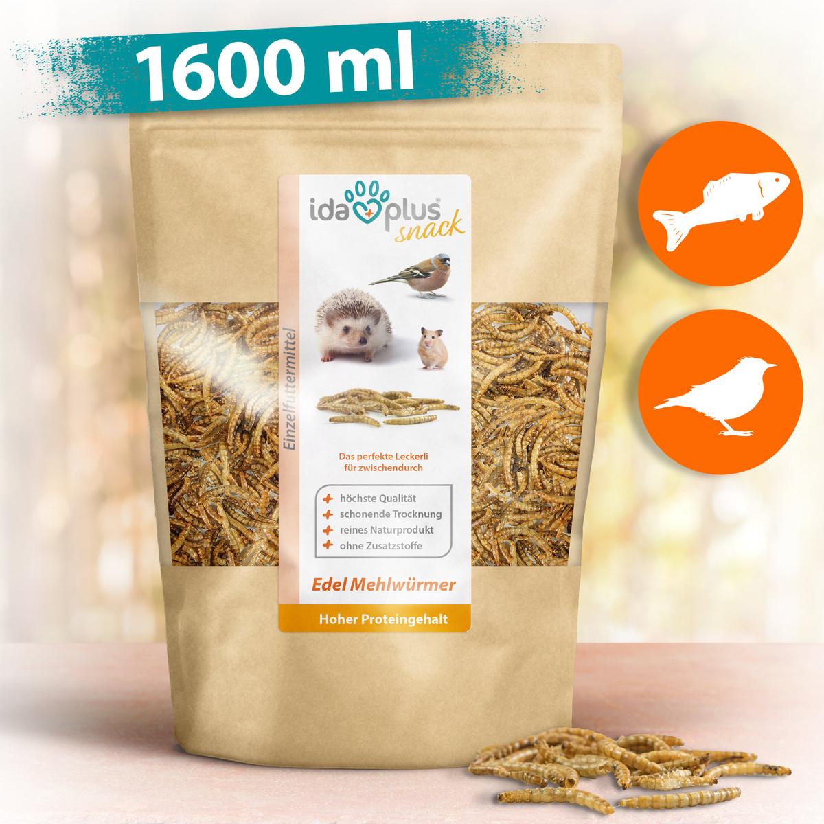 Mehlwürmer getrocknet - Insekten Snack für Igel, Hamster und Reptilien - 250 g