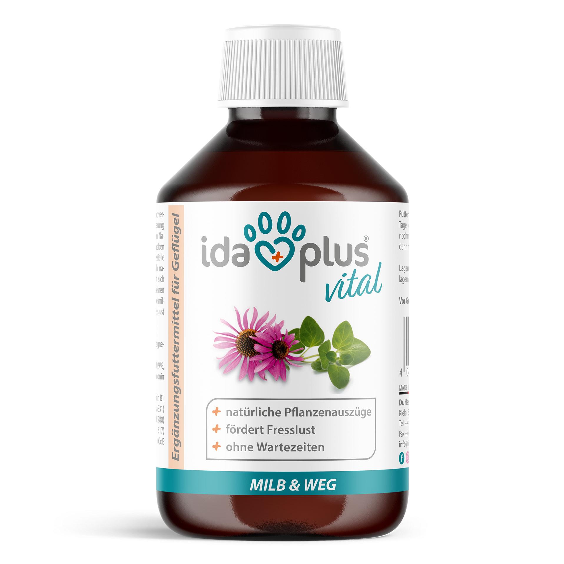 Milb & Weg – Ergänzungsfuttermittel mit natürlichen Pflanzenextrakten - 250 ml