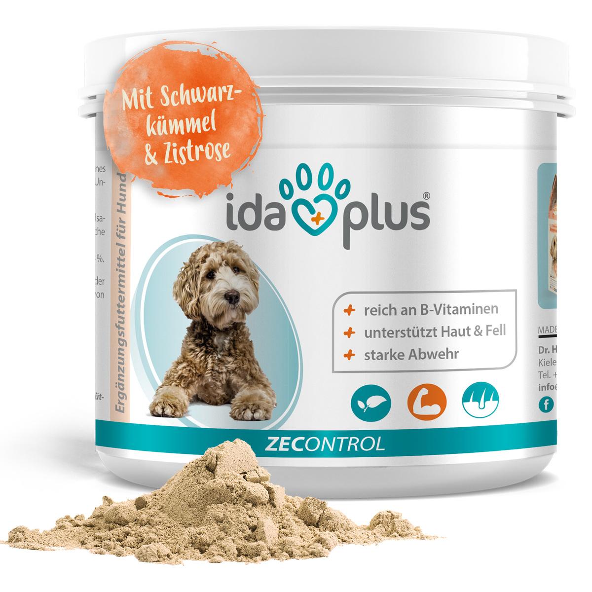 ZECONTROL 250g – Das natürliche Zeckenmittel für Hunde - Schwarzkümmelöl, Bierhefe