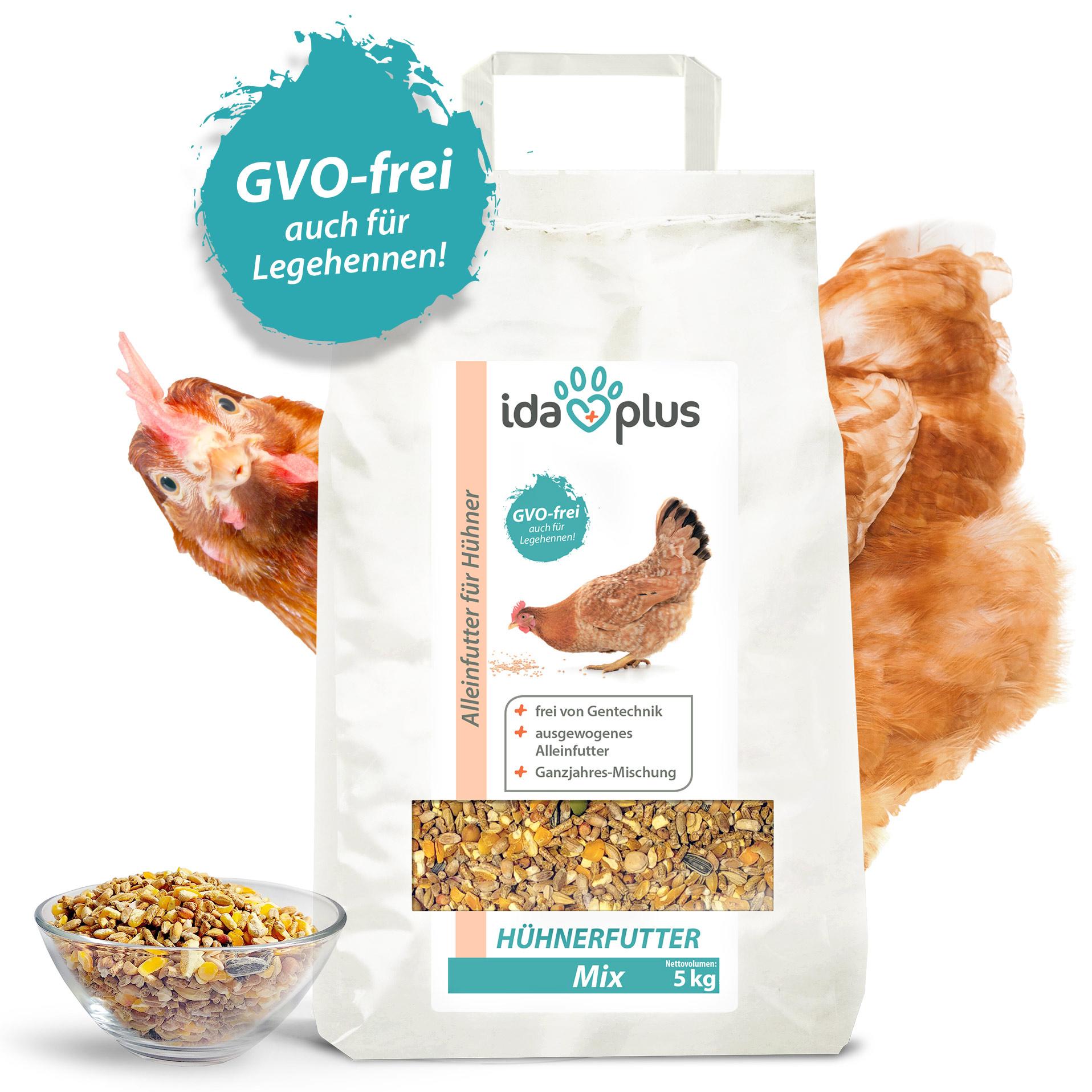 Hühnerfutter Mix GVO-frei - Ausgewogenes Alleinfutter - Ganzjahresmischung - 5 Kg